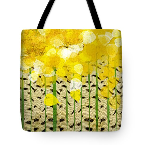 Aspen Colorado Abstract Square Tote Bag