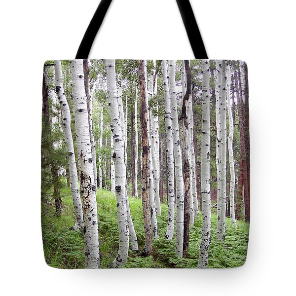 Aspen Forest Tote Bag by Laurel Powell