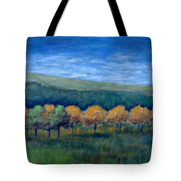 Tote Bag featuring the painting Aspen Gold by Suzanne Theis