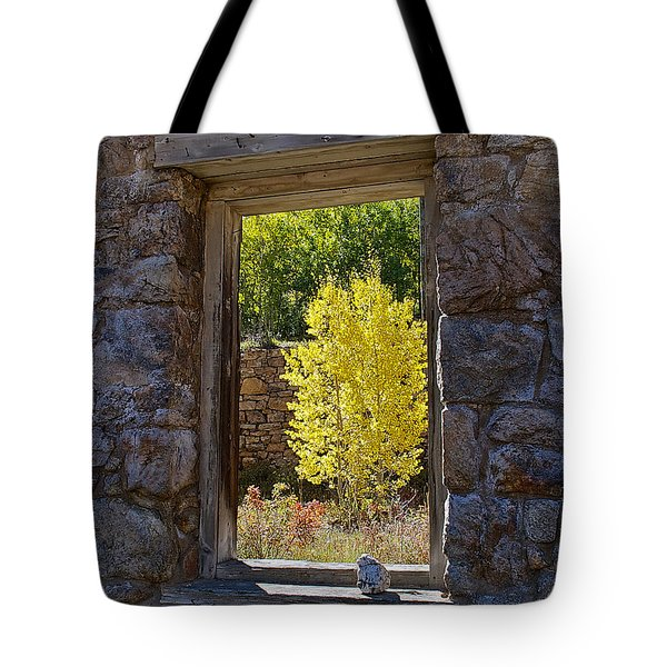 Aspen Gold Through Time Tote Bag by Stephen  Johnson