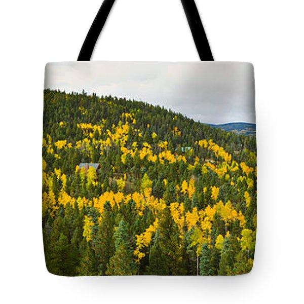 Aspen Hillside In Autumn, Sangre De Tote Bag
