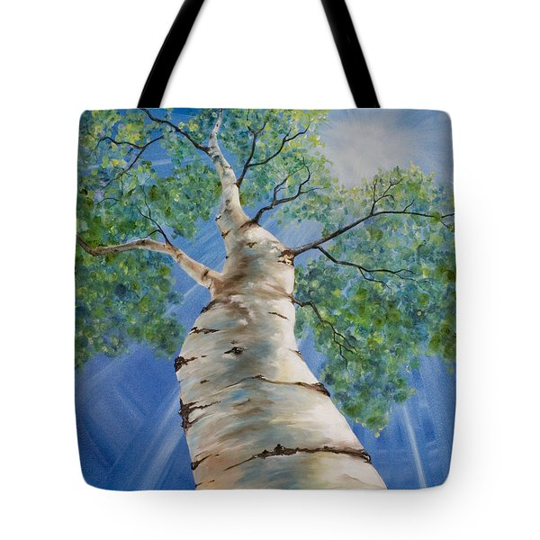 Tote Bag featuring the painting Aspen Light by Melinda Cummings