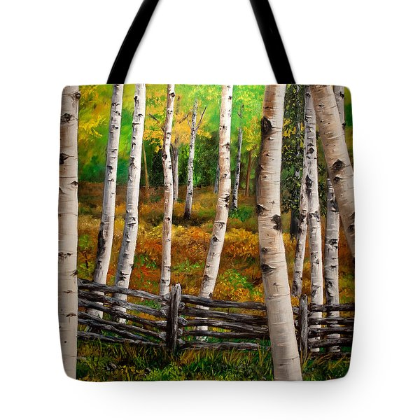 Aspen Meadow Tote Bag