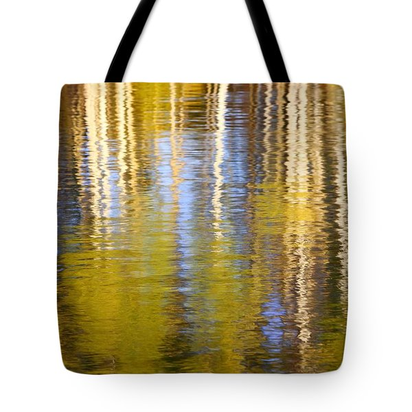 Tote Bag featuring the photograph Aspen Reflection by Kevin Desrosiers
