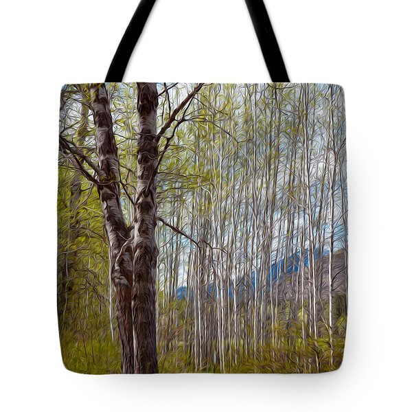 Aspen Trees Proudly Standing Tote Bag by Omaste Witkowski