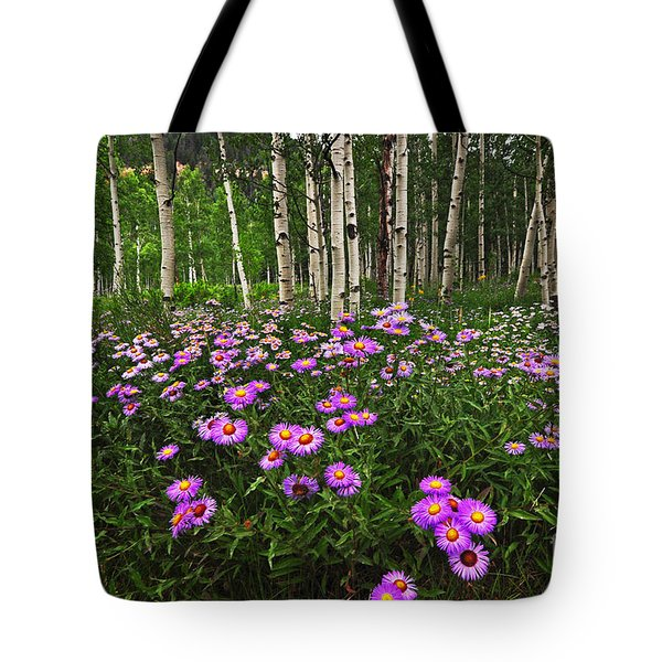 Aspens And Asters Tote Bag