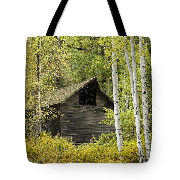 Aspens And Barn Tote Bag