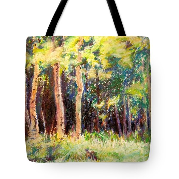 Aspens On The North Rim Tote Bag by Katrina West