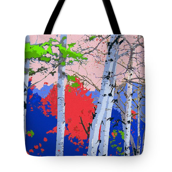 Aspensincolor Blue Tote Bag