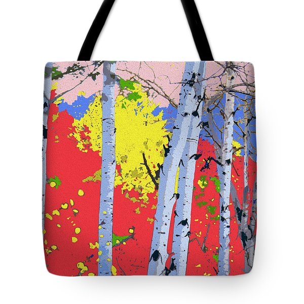 Aspensincolor Redorange Tote Bag