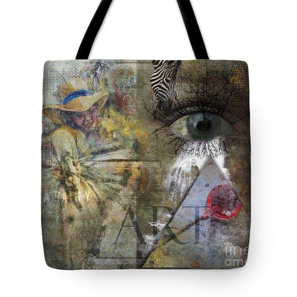 Tote Bag featuring the digital art Asperger's by Nola Lee Kelsey