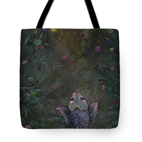 Aspiration Of The Koi Tote Bag by Shadia Derbyshire