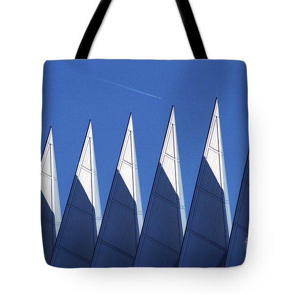 aSPIREing Air Force Academy Chapel with Jet Tote Bag