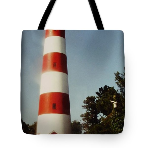 Assateague Lighthouse Tote Bag by Joann Renner