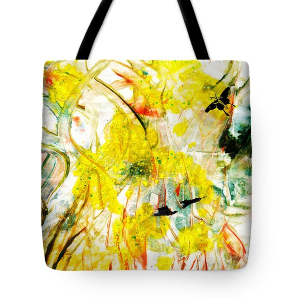 Tote Bag featuring the painting Assiduous by Ron Richard Baviello