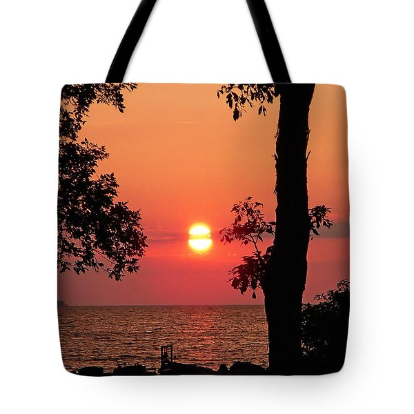 Association Island Sunset Tote Bag by Aimee L Maher Photography and Art Visit ALMGallerydotcom