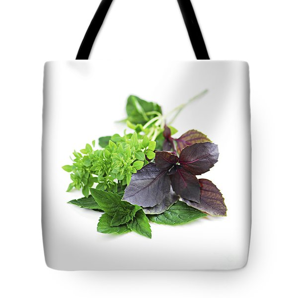 Assorted Basil Herbs Tote Bag