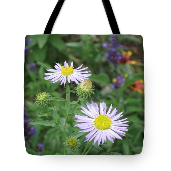 Asters In Close-up Tote Bag