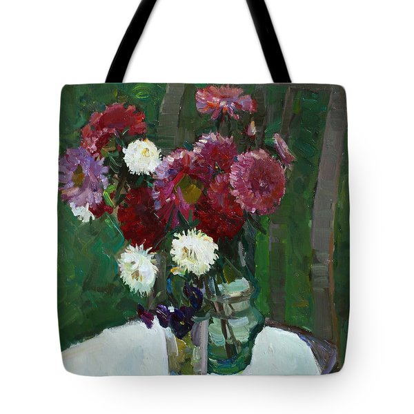 Asters In The First Frosts Tote Bag