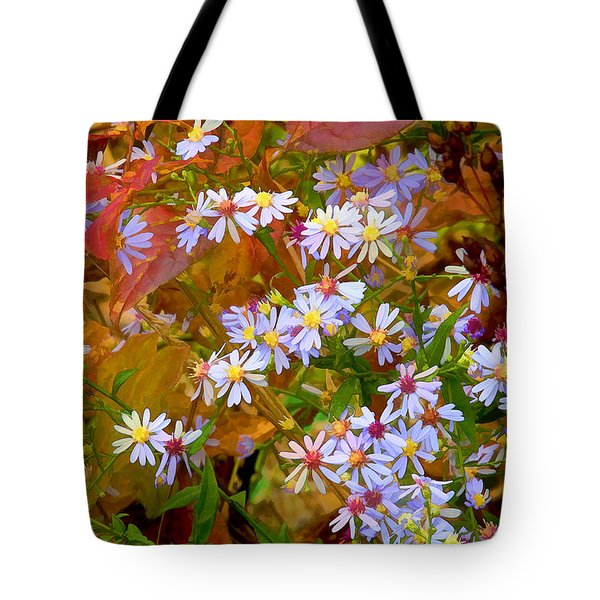 Asters Tote Bag by Ron Jones