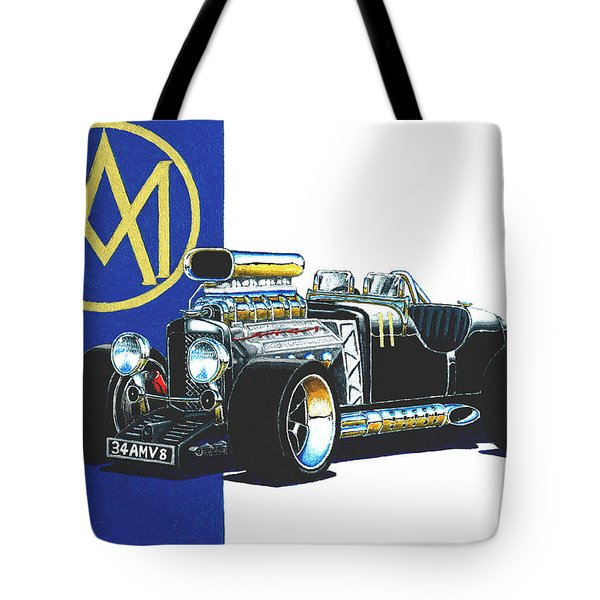 Aston Martin Hot Rod Tote Bag