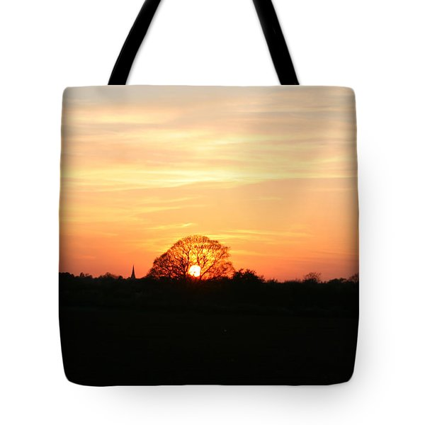 Tote Bag featuring the photograph Aston Sunset by Elizabeth Lock