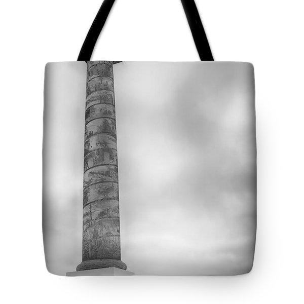 Tote Bag featuring the photograph Astoria The Column by David Millenheft