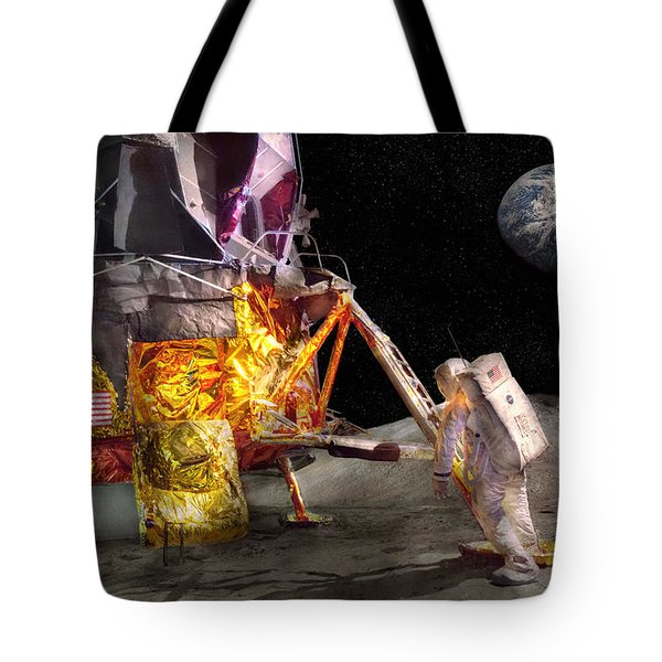 Astronaut - One Small Step Tote Bag by Mike Savad