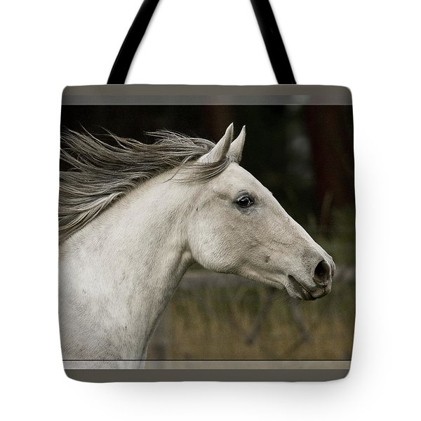 Tote Bag featuring the photograph At A Full Gallop D7796 by Wes and Dotty Weber