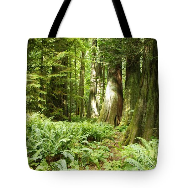 At Cathedral Grove Tote Bag