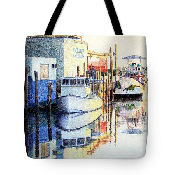 At Cortez Docks Tote Bag
