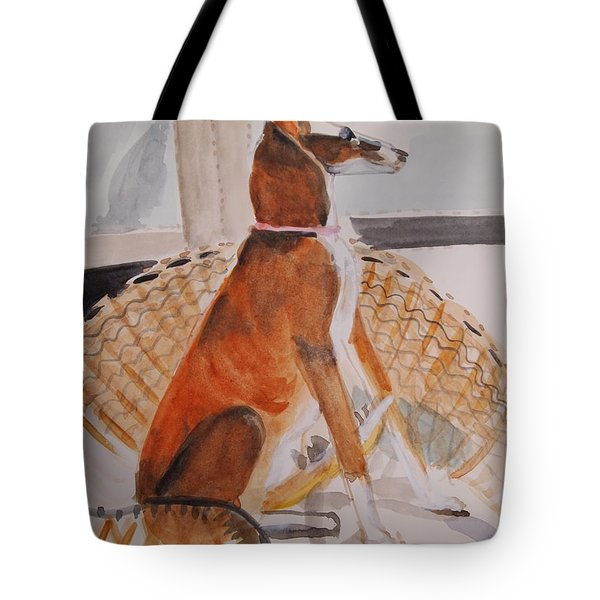 At Full Attention Tote Bag by Nancy Kane Chapman
