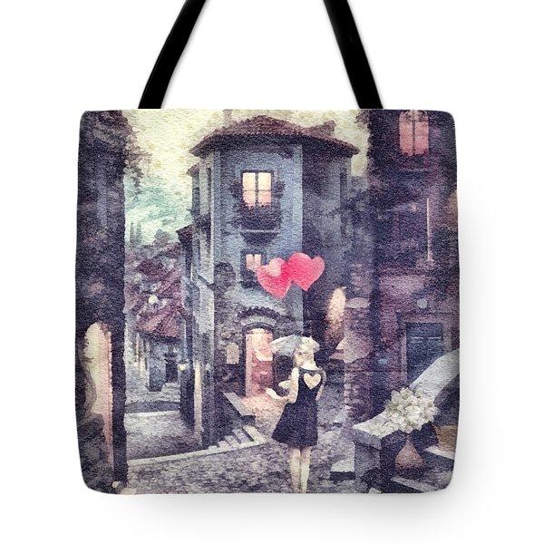At Heart Tote Bag by Mo T