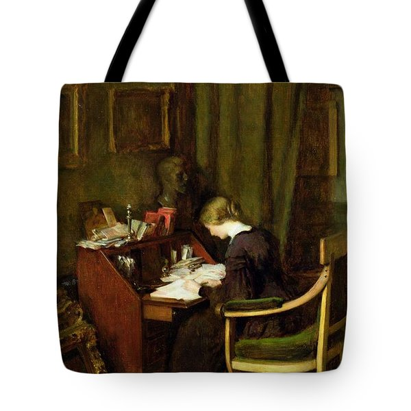 At Her Desk Tote Bag