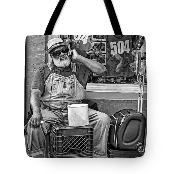At His Office - Grandpa Elliott Small Bw Tote Bag