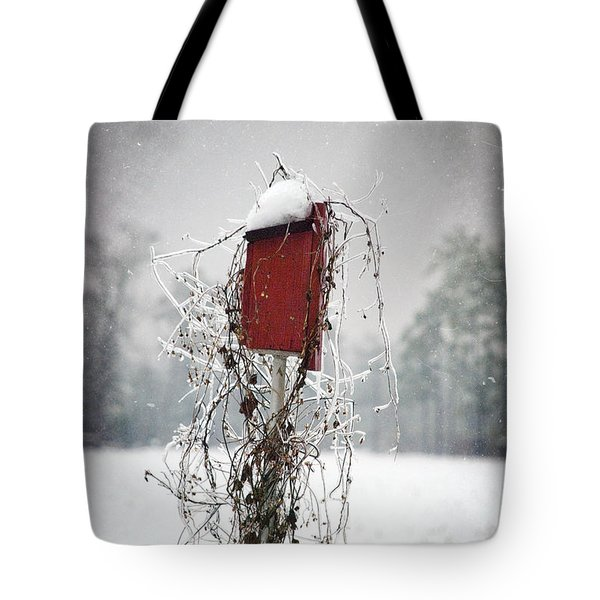 At Home In The Snow Tote Bag