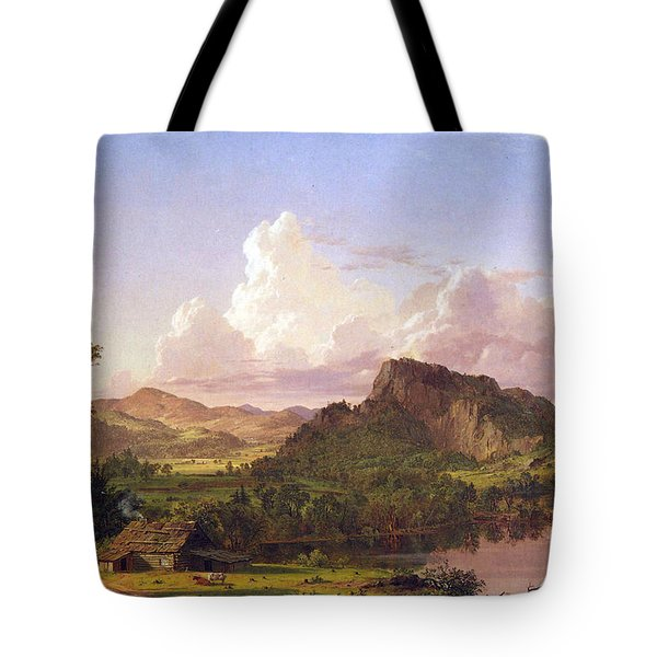 At Home On The Lake By Frederick Edwin Church Tote Bag