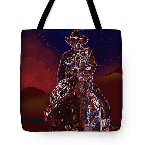 At Home On The Range Tote Bag by Kae Cheatham