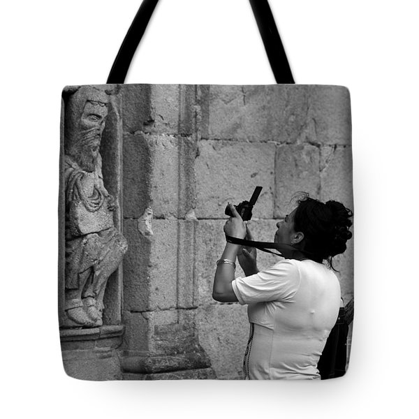 At Least Try And Smile While The Lady Takes Your Photo..... Tote Bag by James Brunker