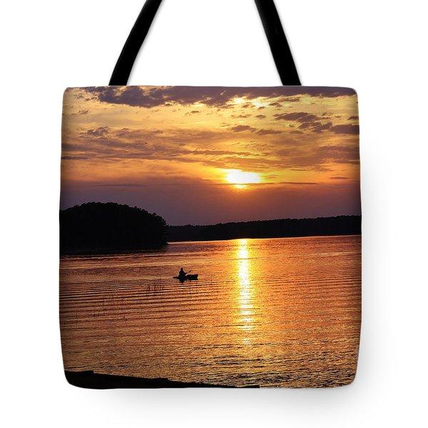 At Peace On The Lake Tote Bag
