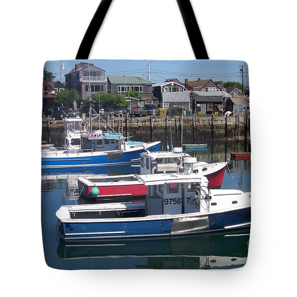 Colorful Boats Tote Bag by Eunice Miller
