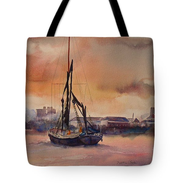 Tote Bag featuring the painting At Rest On The Thames London by Beatrice Cloake