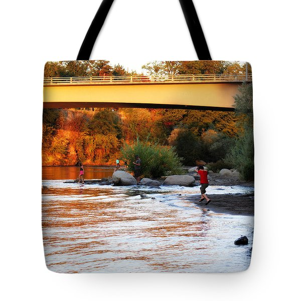 Tote Bag featuring the photograph At Rivers Edge by Melanie Lankford Photography