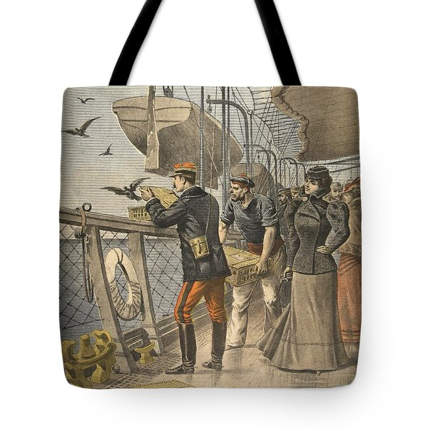 At Sea, Illustration From Le Petit Tote Bag