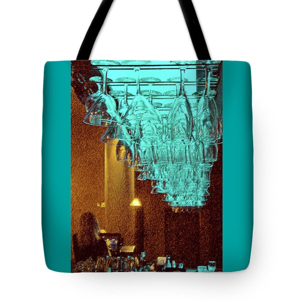 At The Bar Tote Bag by Ben and Raisa Gertsberg