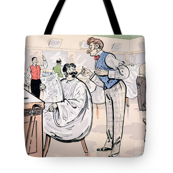 At The Barber And Reading Le Jockey Tote Bag