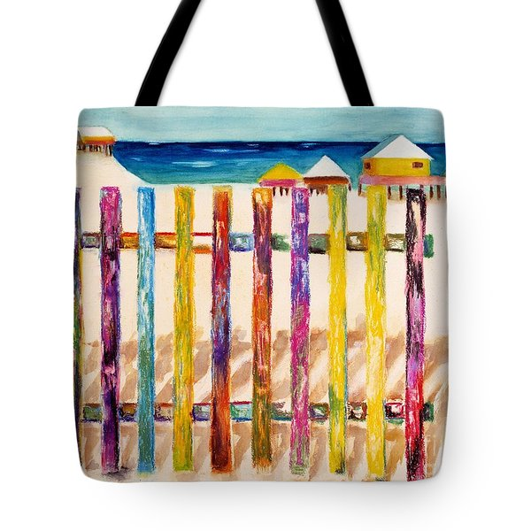 At The Beach Tote Bag by Frances Marino