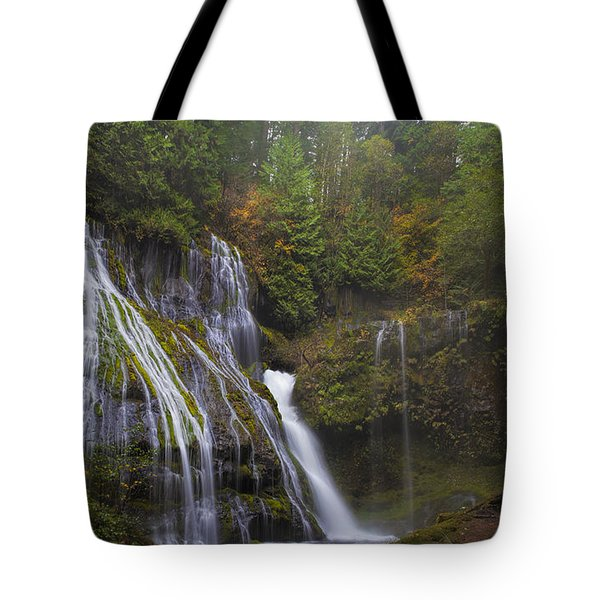 At The Bottom Of Panther Creek Falls Tote Bag by David Gn