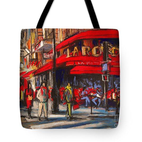 At The Cafe De La Rotonde Paris Tote Bag