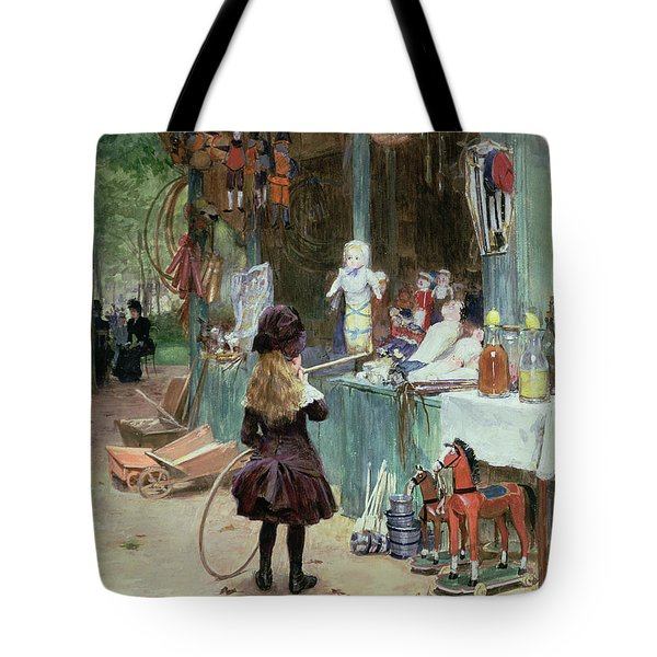 At The Champs Elysees Gardens Tote Bag by Victor Gabriel Gilbert